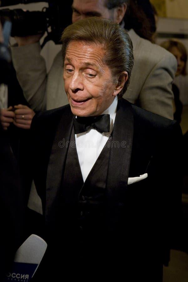 Couturier Valentino bij de Bal van de Liefde royalty-vrije stock fotografie