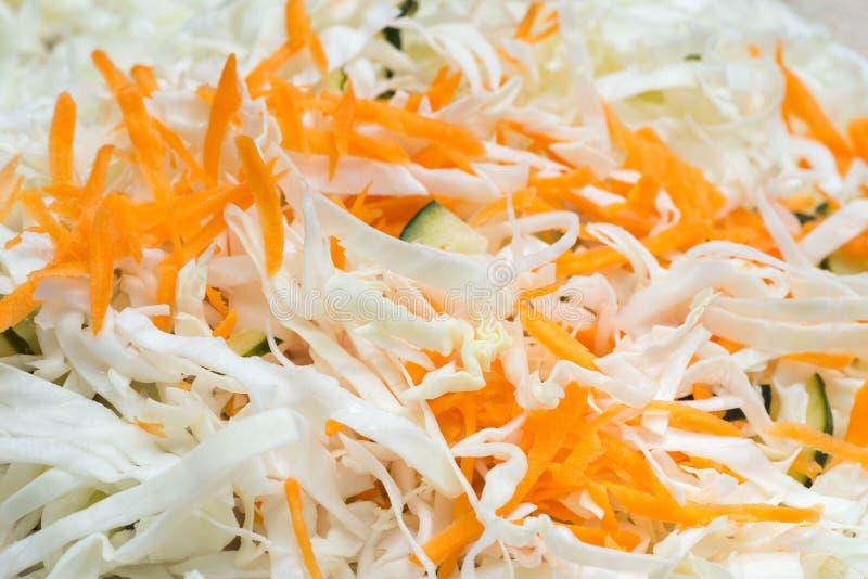 Couve e cenoura Shredded para a salada da salada de repolho foto de stock royalty free