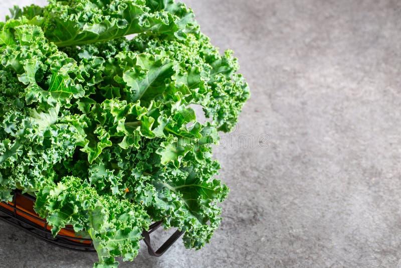 Couve verde encaracolado fresca foto de stock