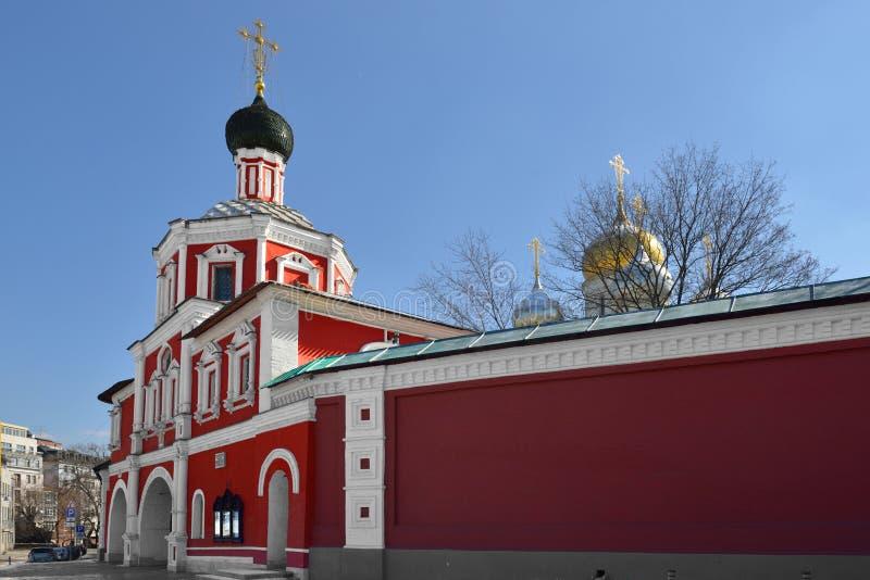 Couvent de conception ou monastère de Zachatyevsky Église baroque de barbacane de Naryshkin de 1696 image stock