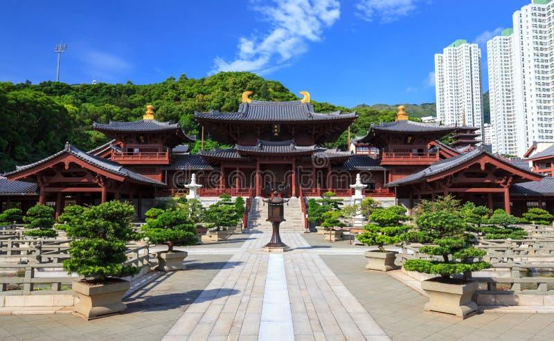 Couvent de lin de Chi, temple chinois de type de dynastie de Tang, Hong Kong photo stock