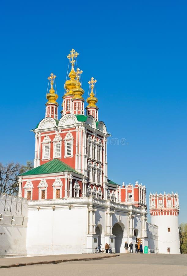 Couvent de Novodevichy à Moscou, Russie. Porte-église du Transf image libre de droits