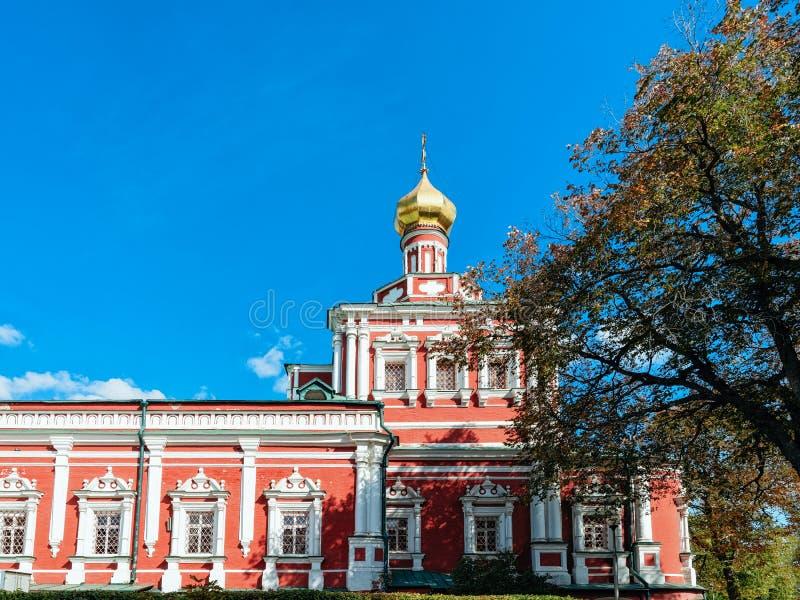 Couvent de Novodevichy d'église d'Uspenskaya à Moscou en Russie image libre de droits