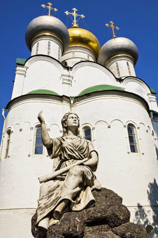 Couvent de Novodevichy de cathédrale de Smolensk à Moscou, Russie photo stock