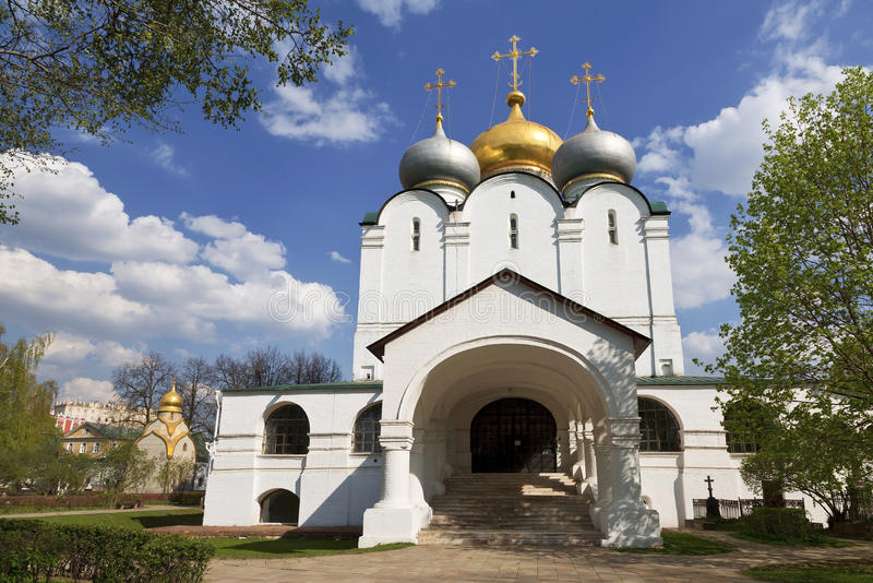 Couvent de Novodevichy La cathédrale de l'icône de Smolensk de la mère de Dieu, photo libre de droits