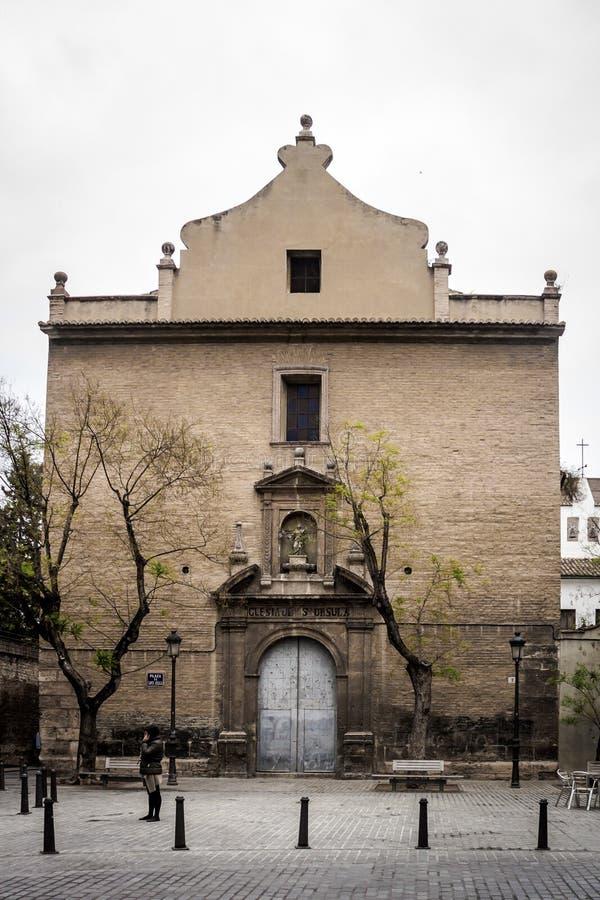 Couvent de St Ursula, Valence - Espagne images stock