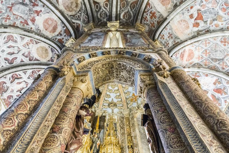 Couvent du Christ, Tomar, Portugal image libre de droits