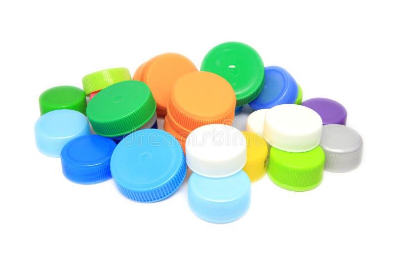Couvercle coloré de bouteille photos stock
