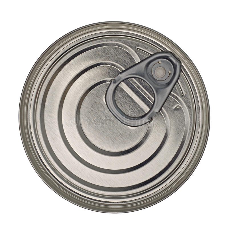 Couvercle de boîte en fer blanc de nourriture photos stock