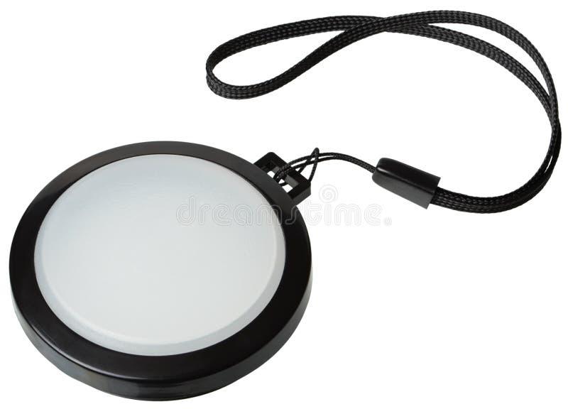 Couvercle de filtre blanc de lentille d'équilibre images stock