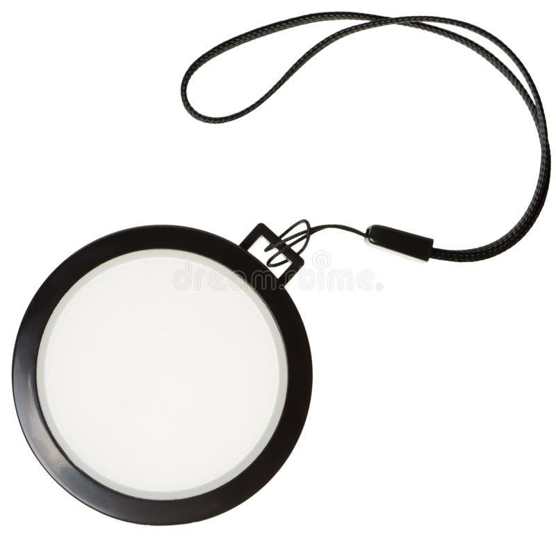Couvercle de filtre blanc de lentille d'équilibre image stock