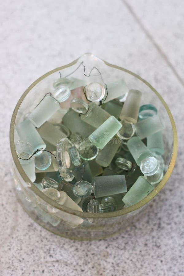 Couvercle en verre de laboratoire de chimie images libres de droits