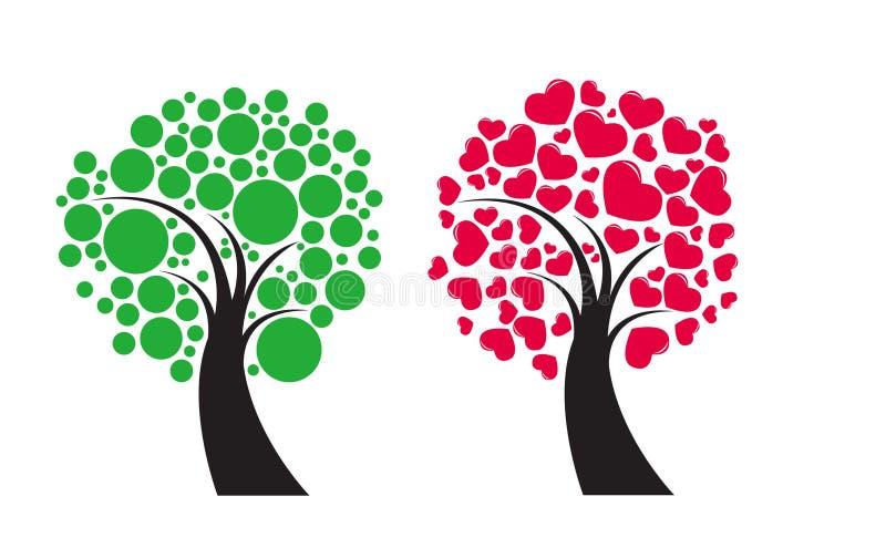 Couvert d'arbres fruitiers illustration libre de droits
