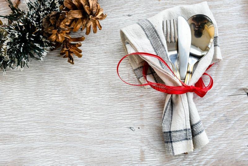 Couvert de table de Noël image stock