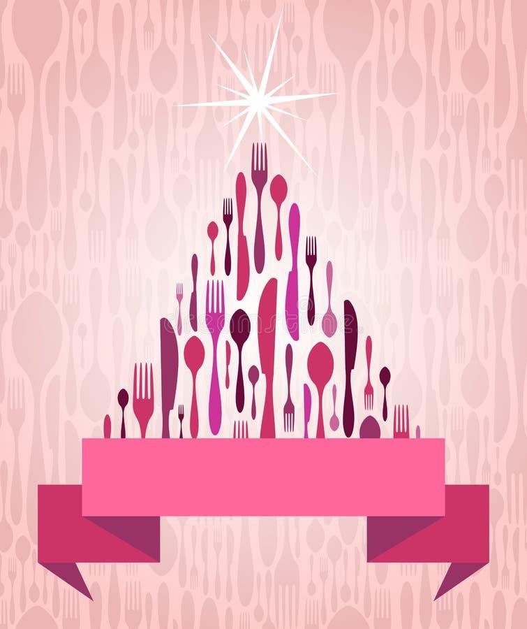 Couverts d'arbre de Noël illustration stock