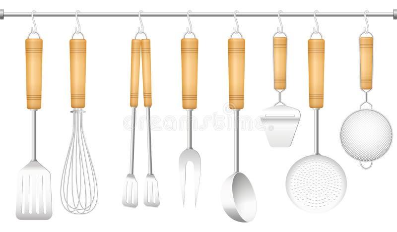 Couverts de cintre d'outil de cuisine illustration libre de droits