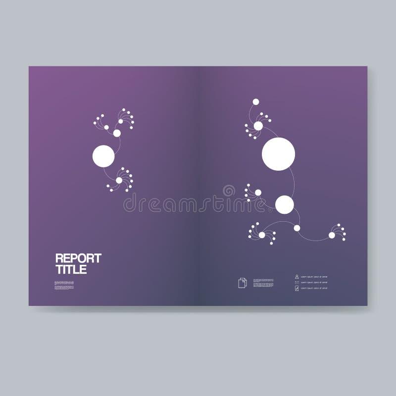 Couverture élégante foncée de rapport annuel pour la présentation d'affaires Fond professionnel d'entreprise de vecteur dans le s illustration stock