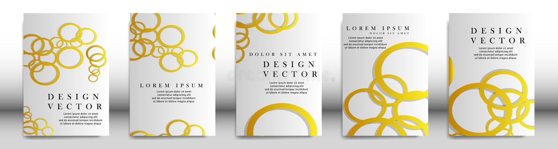 Couverture abstraite avec des éléments de cercle concept de construction de livre Disposition futuriste d'affaires Calibre d'affi illustration stock