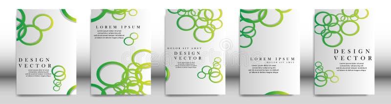 Couverture abstraite avec des éléments de cercle concept de construction de livre Disposition futuriste d'affaires Calibre d'affi illustration de vecteur