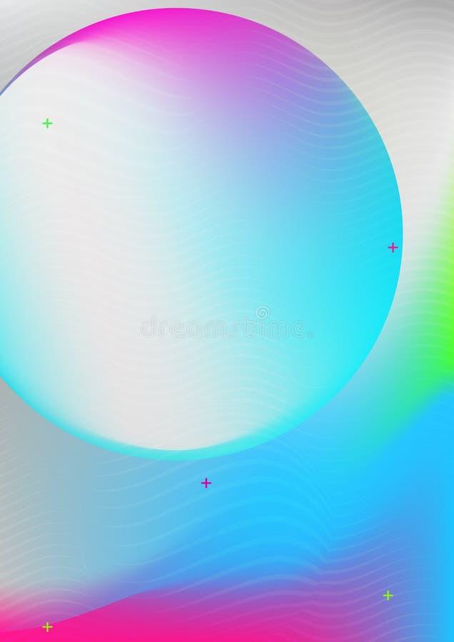 Couverture colorée élégante illustration libre de droits