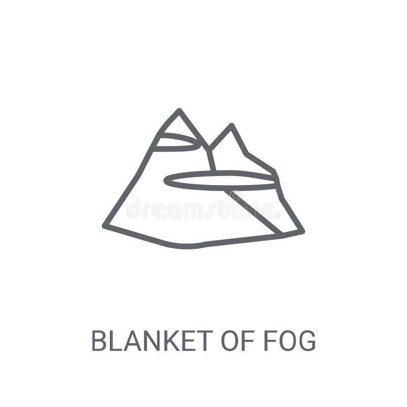 couverture d'icône de brouillard Couverture à la mode de concept de logo de brouillard sur le blanc illustration libre de droits