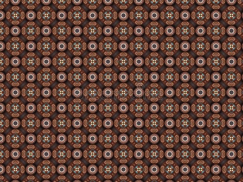 Couverture d'ouatine tricotée par Noël avec le modèle géométrique illustration libre de droits