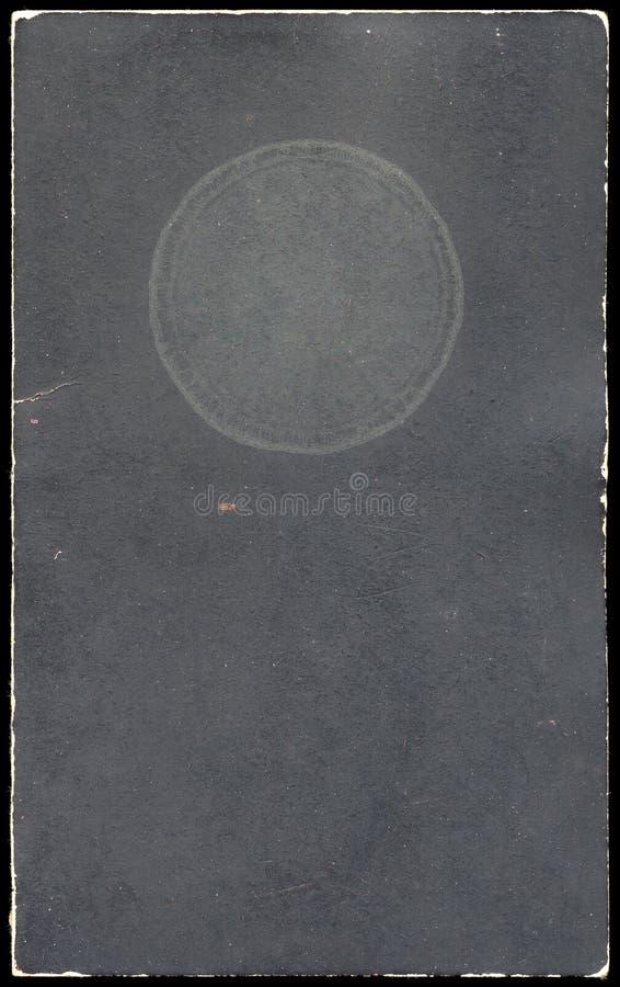 Couverture d'un vieux livret explicatif image stock