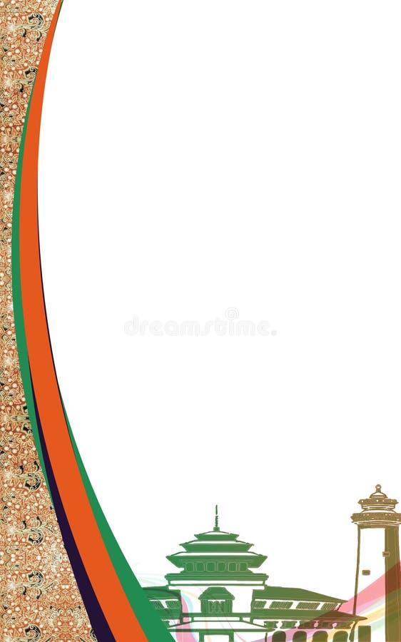 Couverture de batik illustration stock