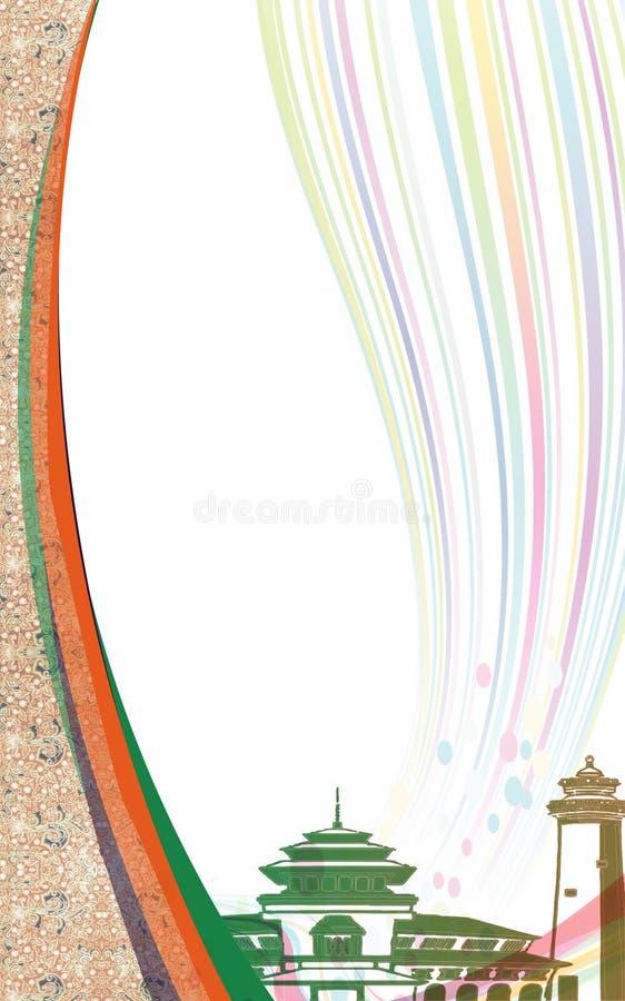 Couverture 2 de batik illustration stock