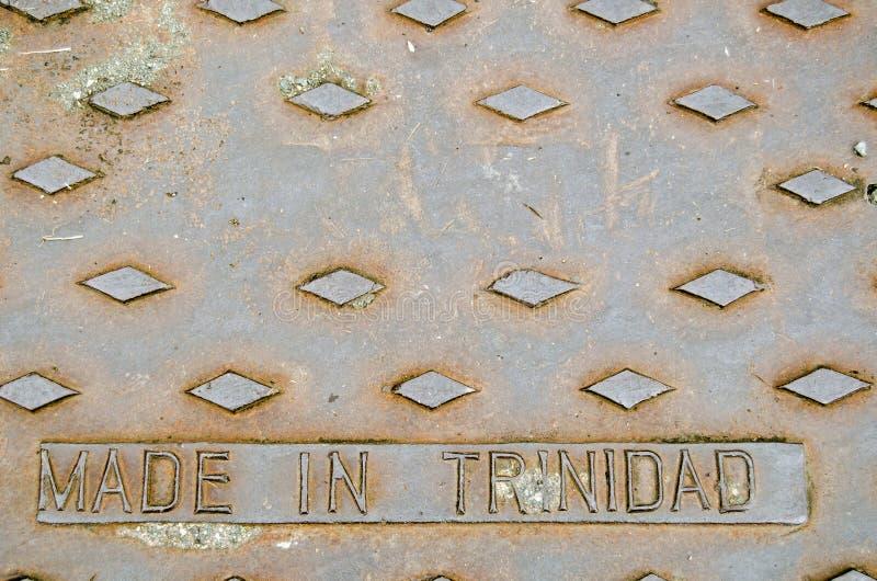 Couverture de drain de fonte du Trinidad image libre de droits