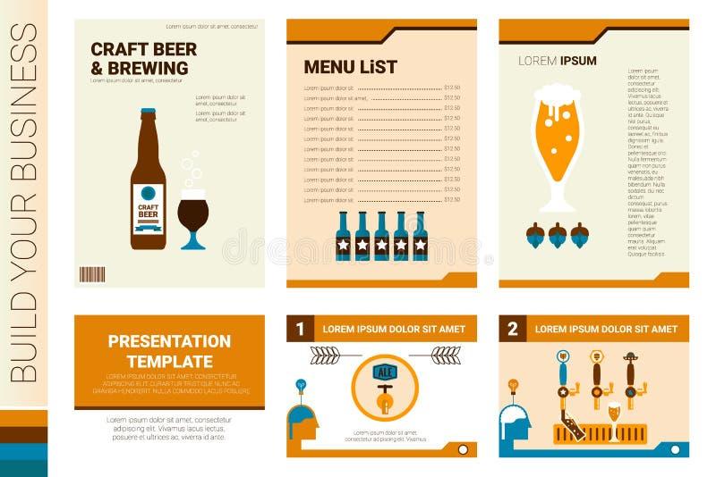Couverture de livre de bière de métier et calibre de présentation illustration libre de droits