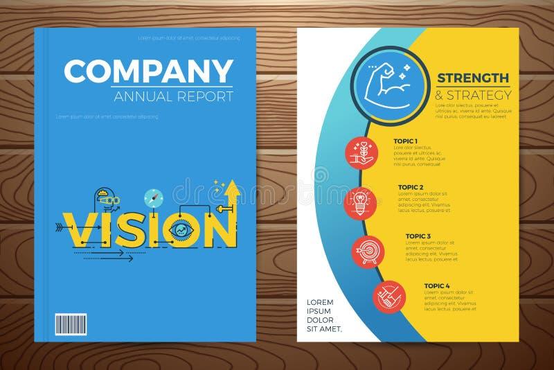 Couverture de livre de vision d'affaires illustration de vecteur