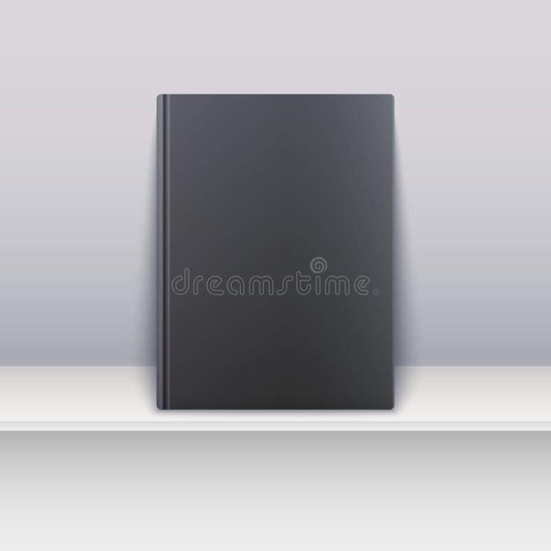 Couverture de livre Magazine se tenant sur l'étagère illustration de vecteur