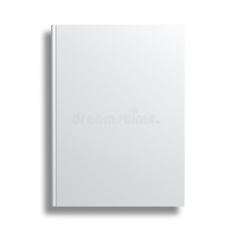 Couverture de livre vide au-dessus du fond blanc illustration libre de droits