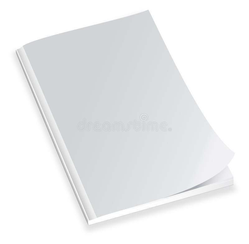 Couverture de magazine blanc illustration stock