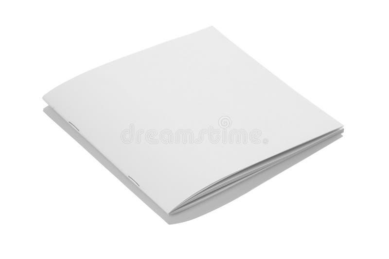 Couverture de magazine vide blanche pliée de brochure pour des maquettes photographie stock