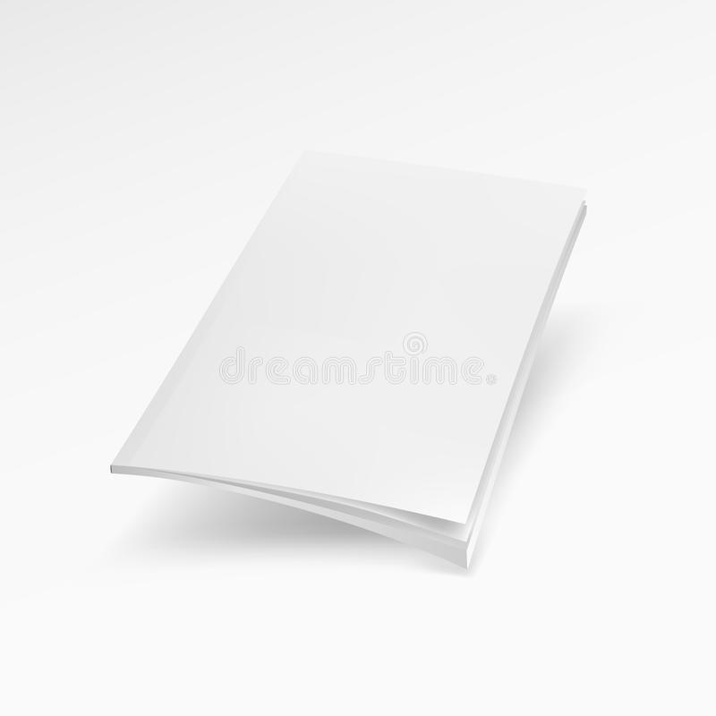 Couverture de magazine vide, livre, livret, brochure Moquerie vers le haut du calibre prêt pour votre conception illustration stock