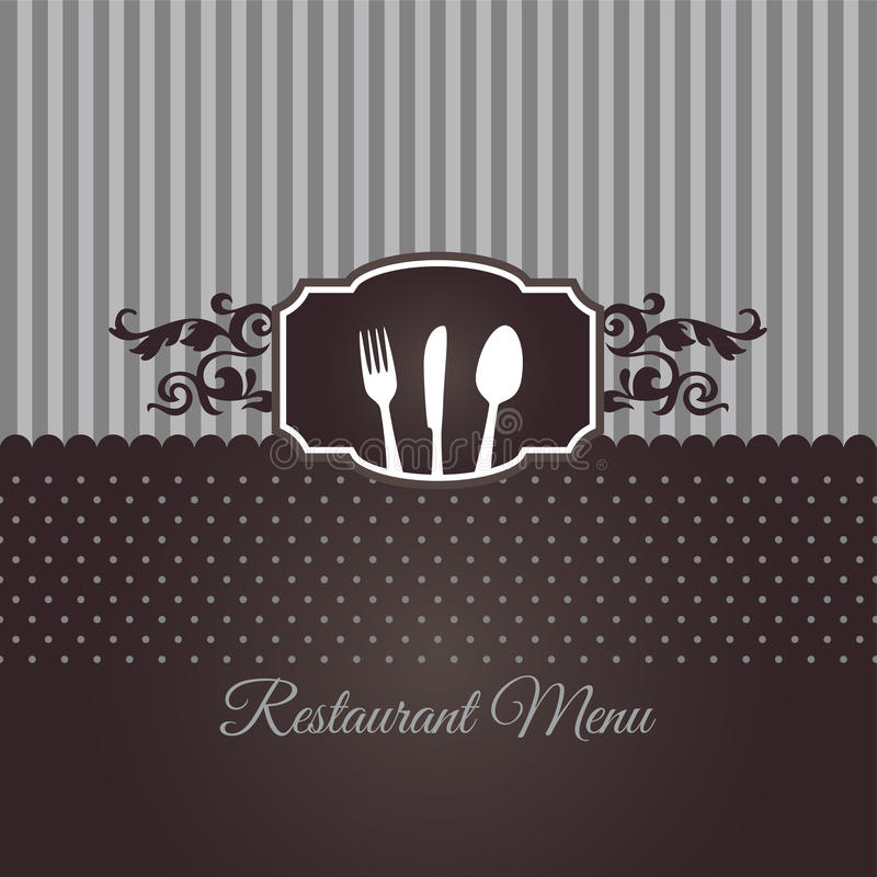 Couverture de menu de restaurant dans brun chocolat photographie stock libre de droits