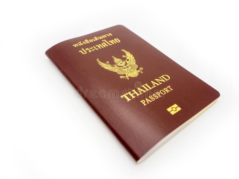Couverture de passeport de la Thaïlande, citoyen d'identification d'isolement sur W photos libres de droits