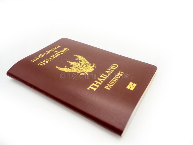 Couverture de passeport de la Thaïlande, citoyen d'identification d'isolement sur W photos stock