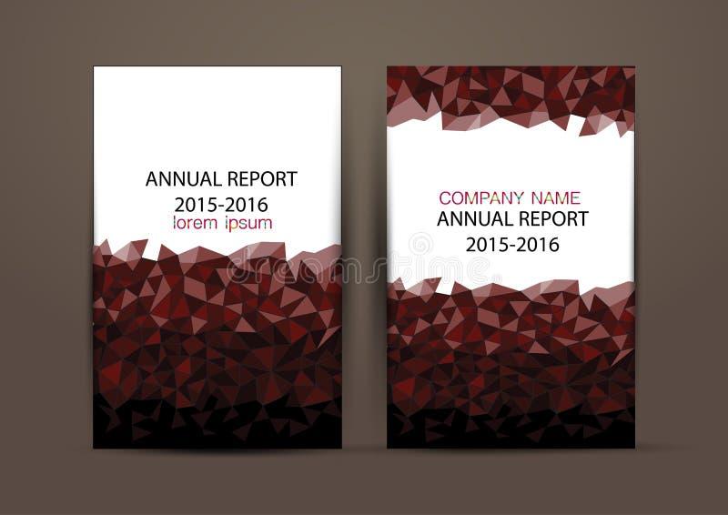 Couverture de rapport annuel, fond coloré de conception de rapport de couverture images libres de droits