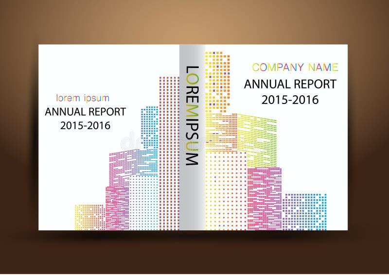 Couverture de rapport annuel, fond coloré de conception de rapport de couverture photo stock
