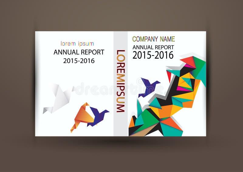 Couverture de rapport annuel, fond coloré de conception de rapport de couverture image stock
