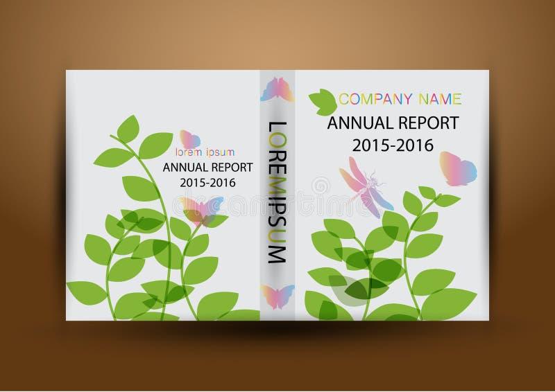 Couverture de rapport annuel, fond coloré de conception de rapport de couverture photographie stock