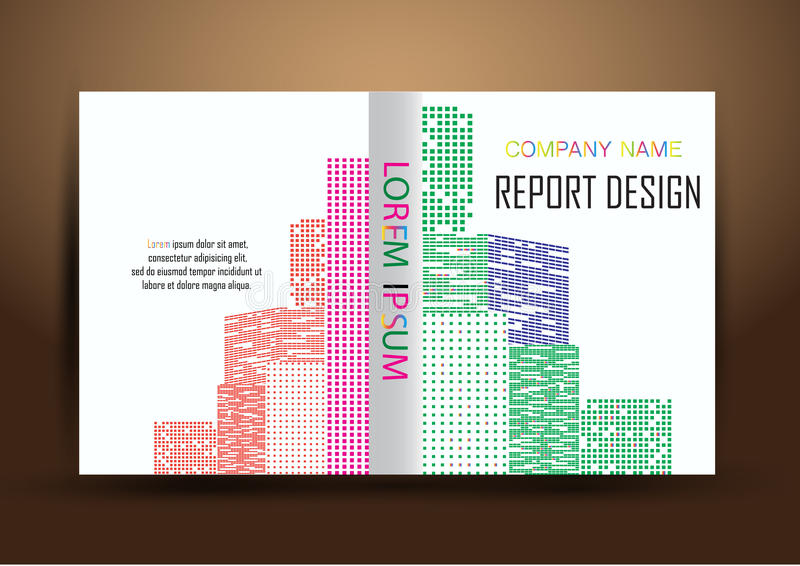 Couverture de rapport annuel, fond coloré de conception de rapport de couverture images stock