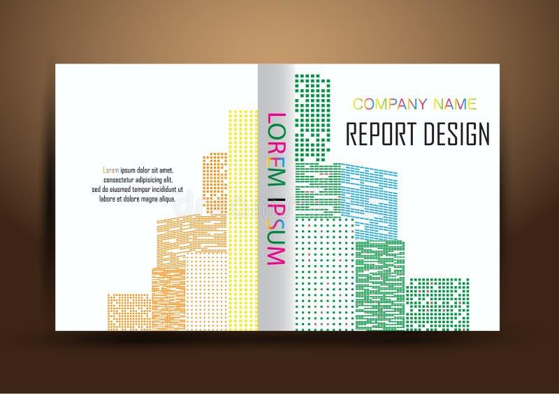 Couverture de rapport annuel, fond coloré de conception de rapport de couverture photos libres de droits