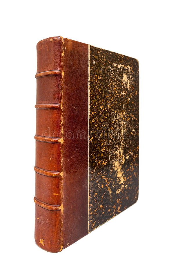 Couverture du ` s de livre très vieux images libres de droits