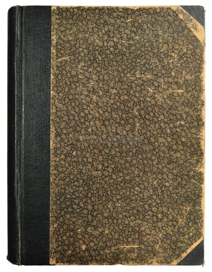 Couverture dure de livre grunge de vintage, modèle abstrait texturisé ornemental antique vide vide de fond, vieille verticale âgé photo libre de droits