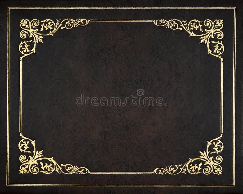Couverture en cuir foncée photographie stock