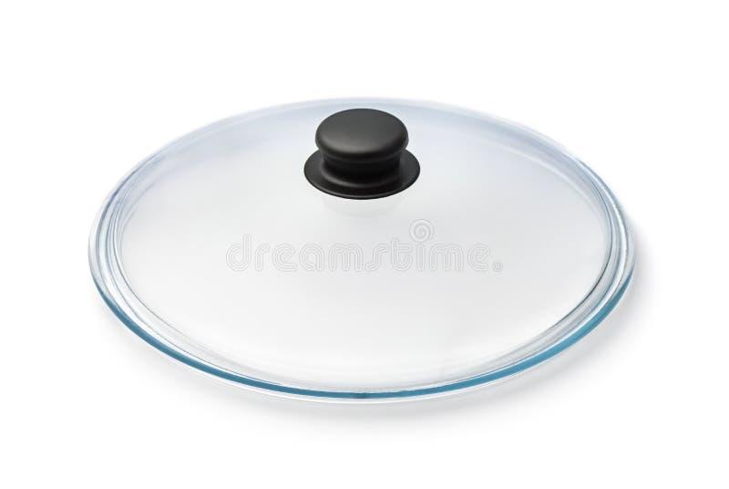 Couverture en verre de casserole image libre de droits
